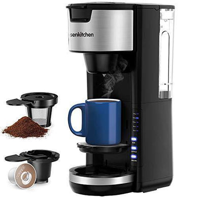 Singles Serve Coffee Makers For K Cup Pod & Coffee Ground - Slushlyo Tea & Coffee
