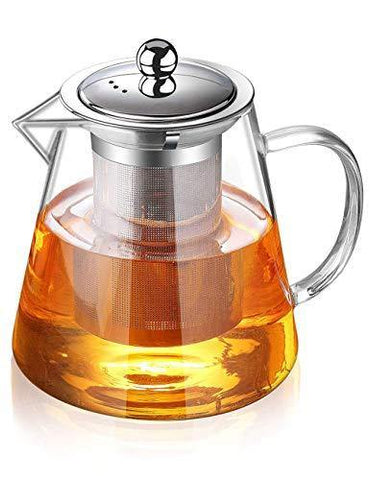 Glass Teapot with Infuser Tea Pot 32oz/43oz Tea Kettle Stovetop - Slushlyo