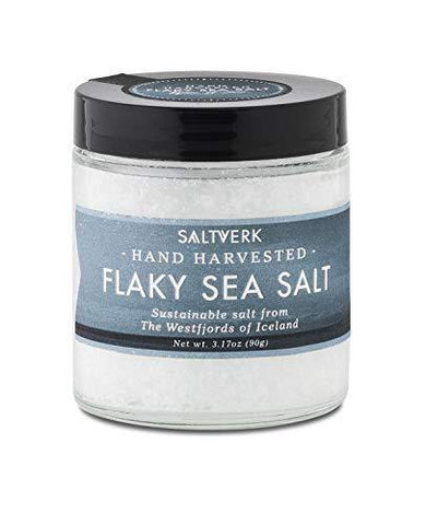 Saltverk Flaky Sea Salt, 3.17 Ounces of Handcrafted Gourmet Salt Flakes - Slushlyo