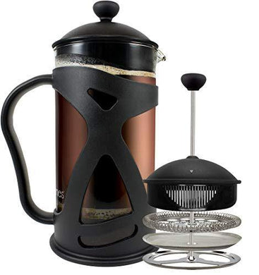 KONA French Press Coffee Maker With Reusable Stainless Steel Filter - Slushlyo Tea & Coffee