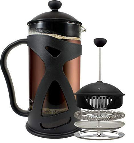 KONA French Press Coffee Maker With Reusable Stainless Steel Filter - Slushlyo