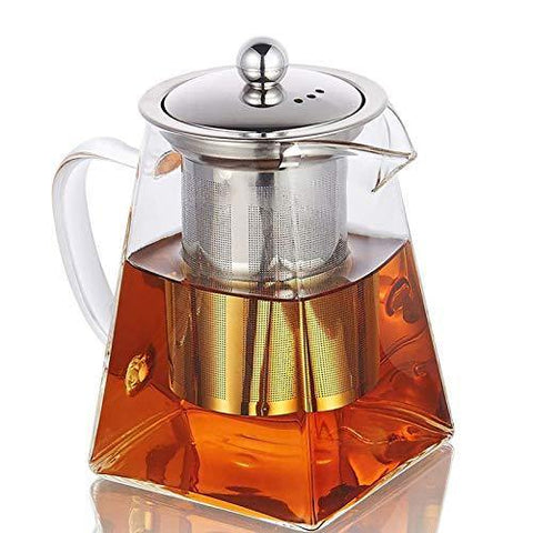 Glass Teapot with Infuser,820ML/29OZ Borosilicate Tea Kettle - Slushlyo