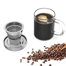 Load image into Gallery viewer, Pour Over Coffee Maker Set with Extra Permanent Stainless Steel Coffee Filter - Slushlyo Tea & Coffee