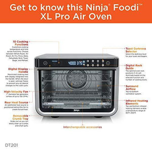 Ninja DT201 Foodi 10-in-1 XL Pro Air Fry Digital Countertop Convection Toaster Oven - Slushlyo