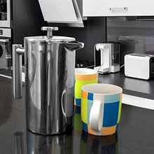 Load image into Gallery viewer, Utopia Kitchen Stainless Steel French Press - Double Wall 32oz - Slushlyo Tea & Coffee