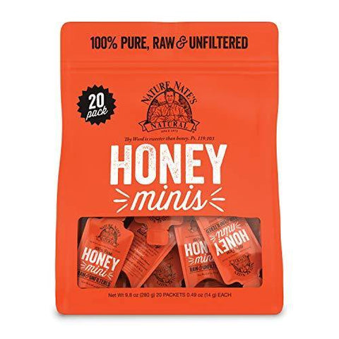 Nature Nate's Raw & Unfiltered Honey Minis Packets - Slushlyo