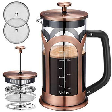 Veken French Press Coffee & Tea Maker - Slushlyo Tea & Coffee