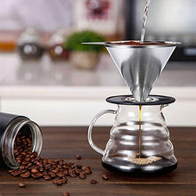 Load image into Gallery viewer, Pour Over Coffee Dripper Stainless Steel - Slushlyo Tea & Coffee