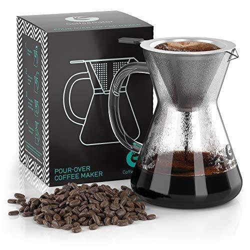 Pour Over Coffee Maker 3 Cup Hand Drip - Slushlyo Tea & Coffee