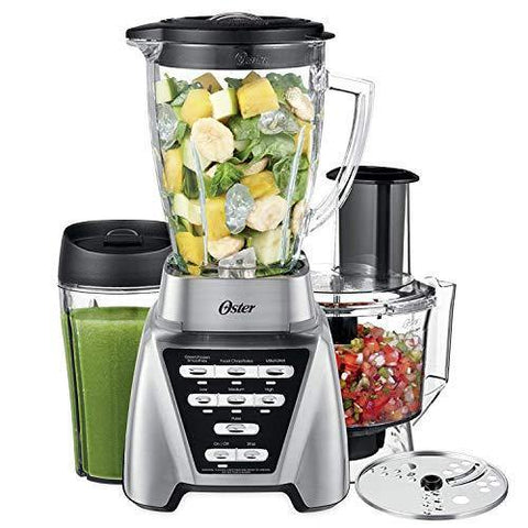 Oster Blender | Pro 1200 with Glass Jar, 24-Ounce Smoothie Cup and Food Processor - Slushlyo