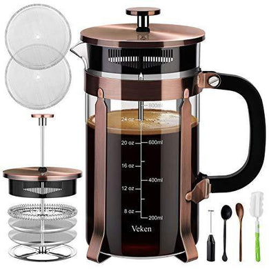 Veken French Press Coffee Maker - Slushlyo Tea & Coffee
