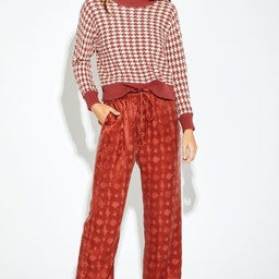 ARI HOUNDSTOOTH SWEATER