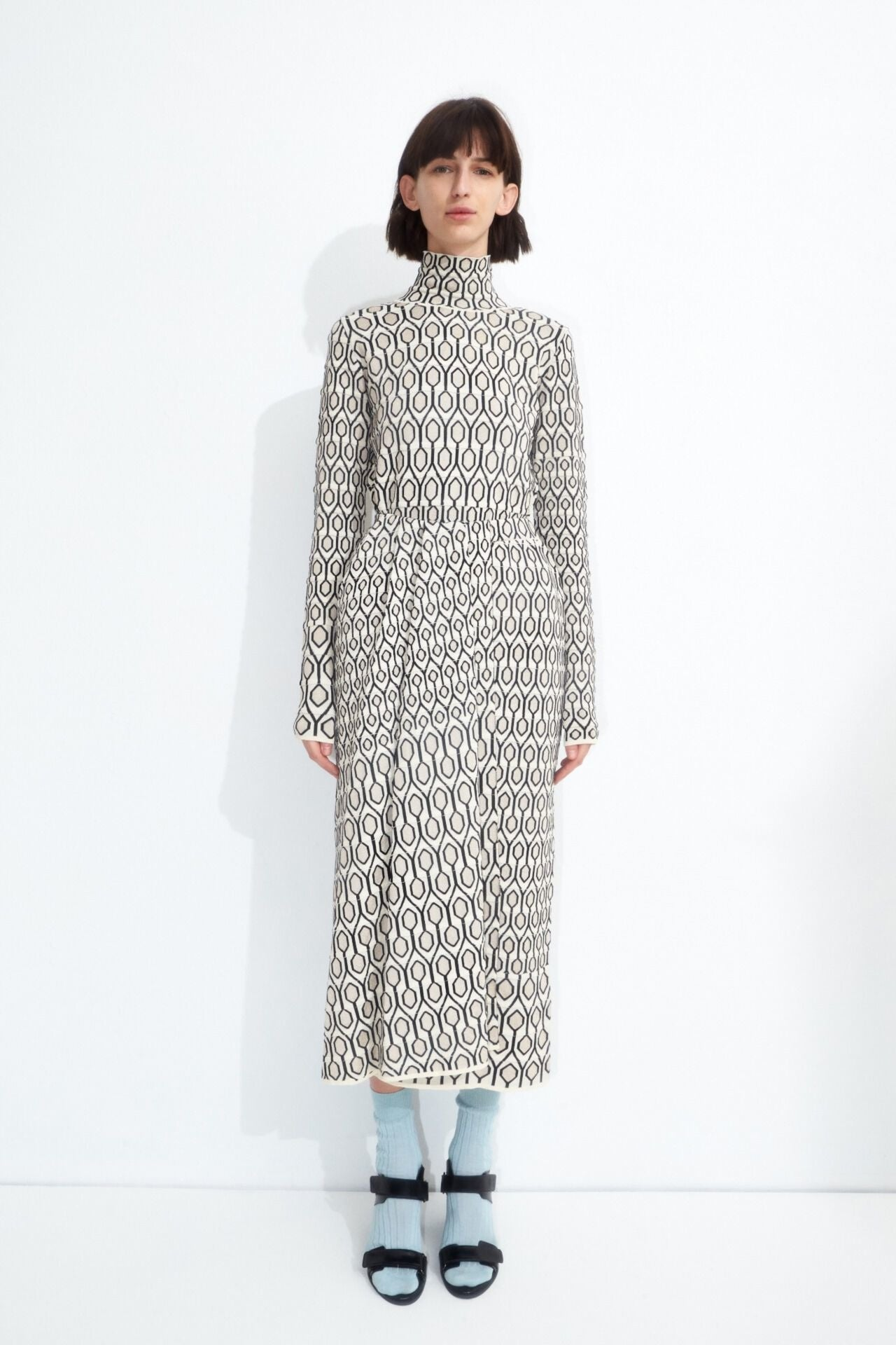 KAHA JACQUARD KNIT SKIRT