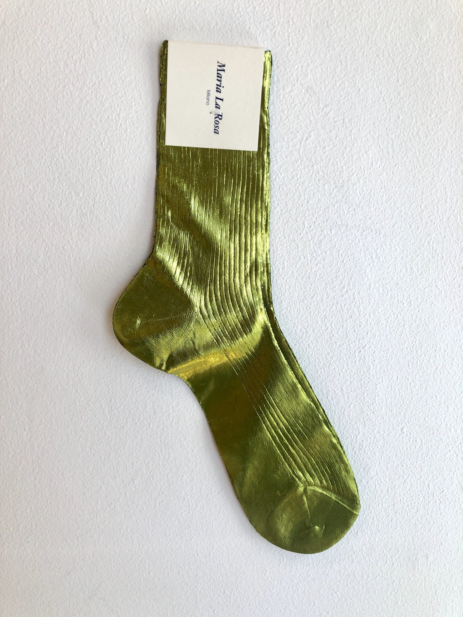 LAMINATED RIBBED SOCK