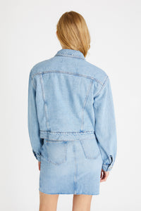 LAURYN LINED DENIM JACKET