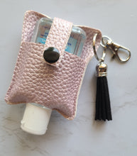 Load image into Gallery viewer, Faux Leather Holder- light pink and black