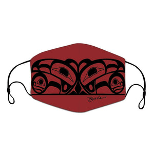 Roy Henry Vickers (RED) Raven Reusable Adult Face Mask