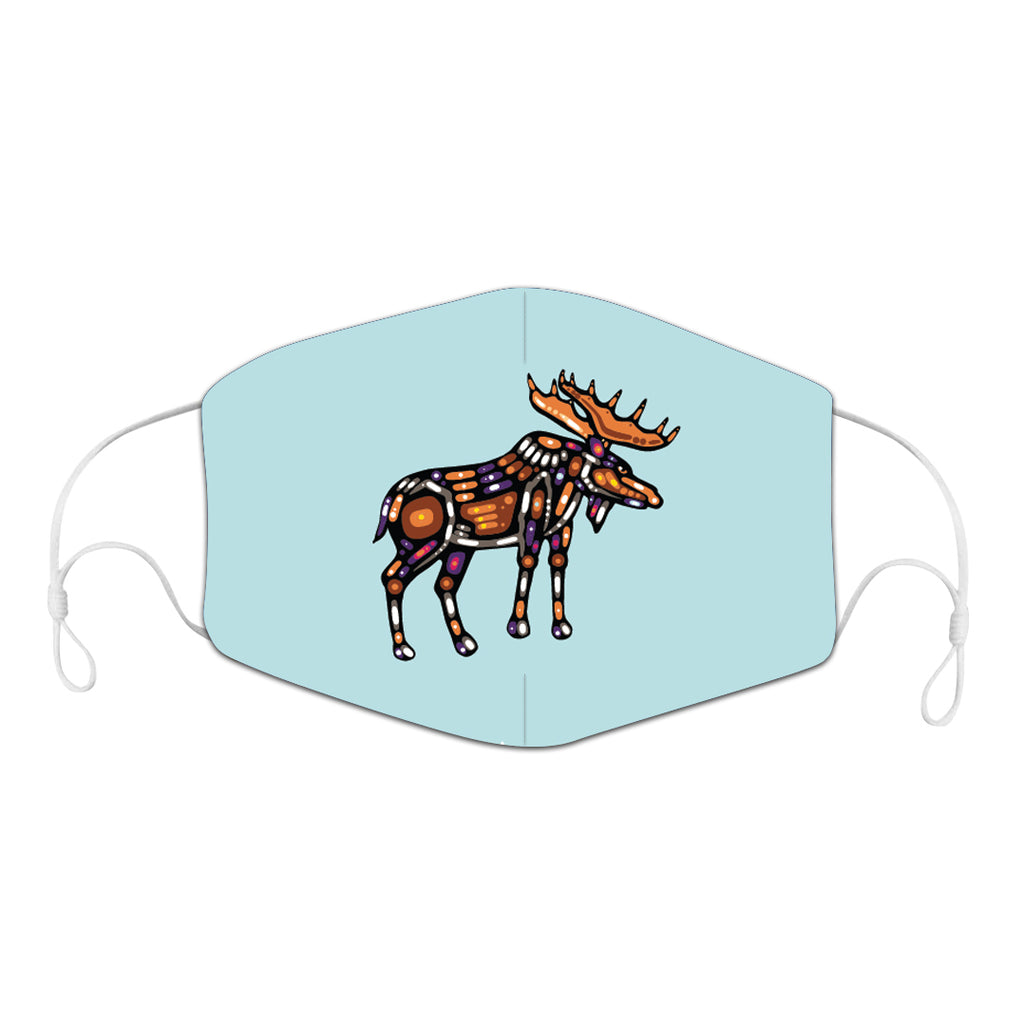 NEW RELEASE! John Rombough Moose Reusable Adult Face Mask