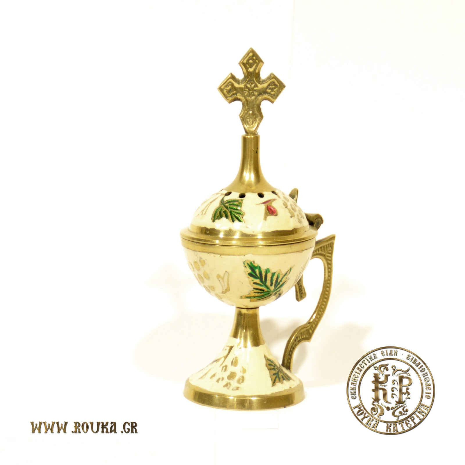 Bronze Home Censer with Enamel