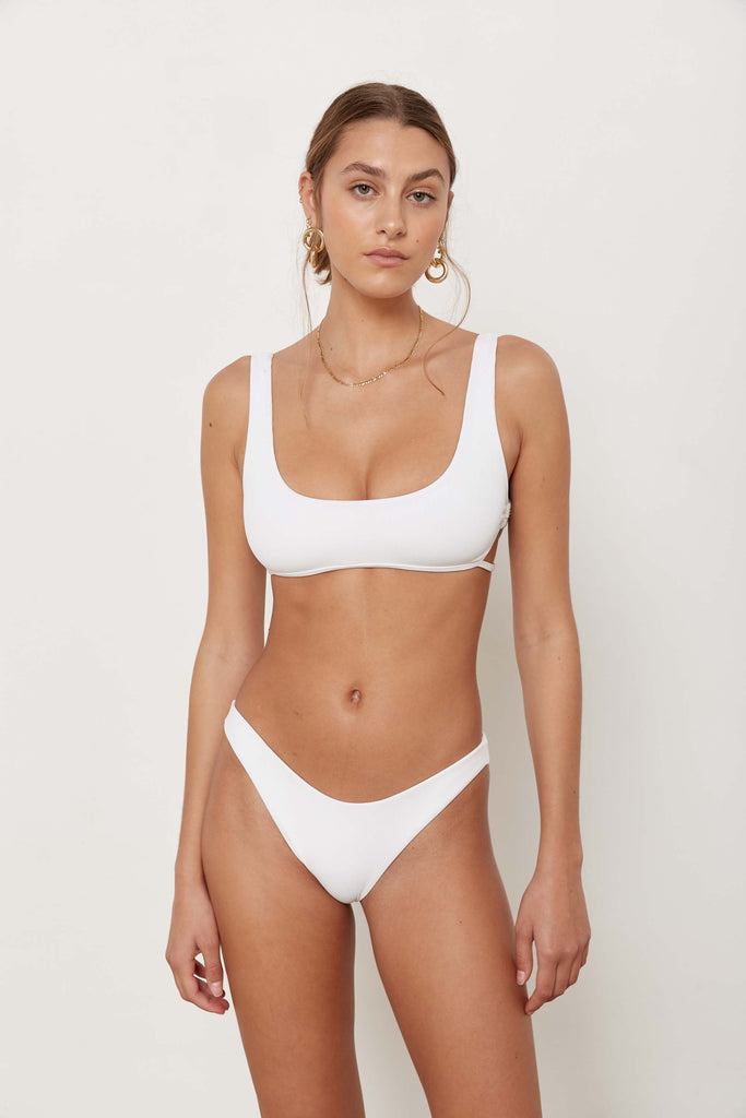 Fitzroy Bottoms - Eco White Rib