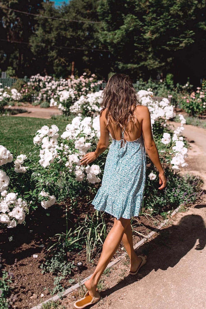 Chelsea Dress - Teal Wildflower