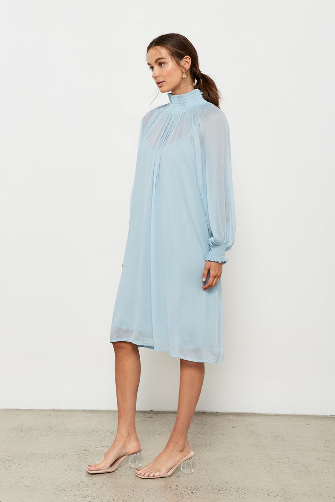 Rashida Dress - Daisy Blue