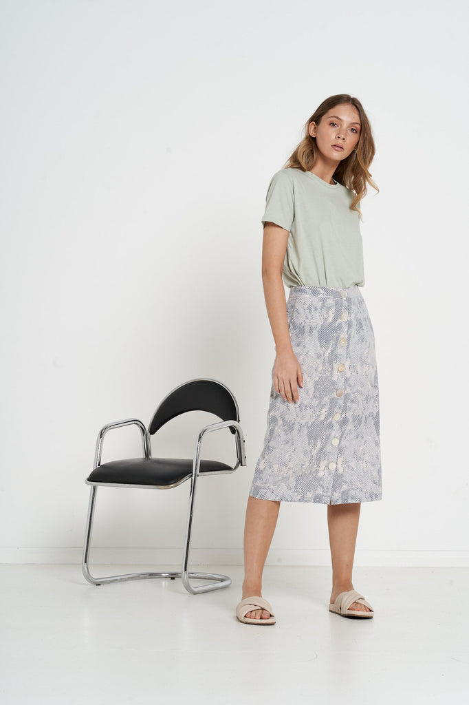 Melody Skirt - Nude Snake