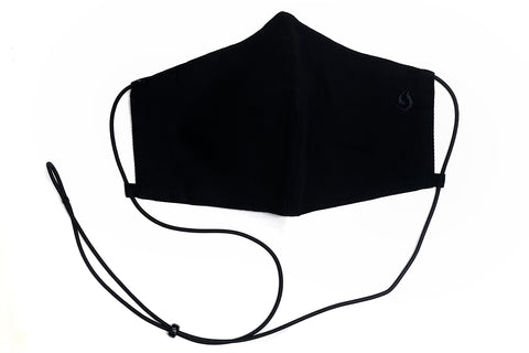 Adjustable Fabric Face Mask - Black on Black