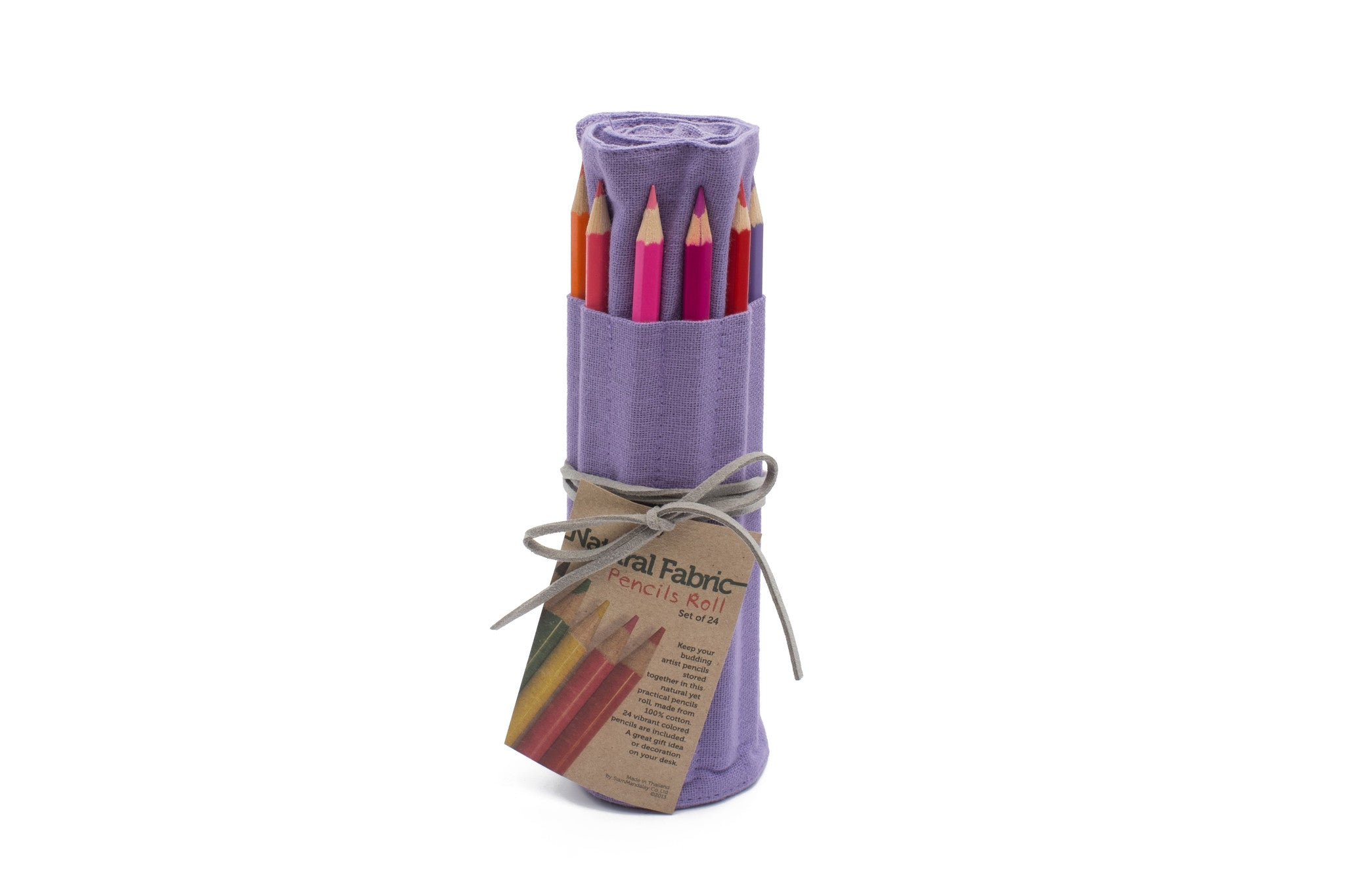 24 Colored Pencil - Vibrant Purple Fabric Roll Up