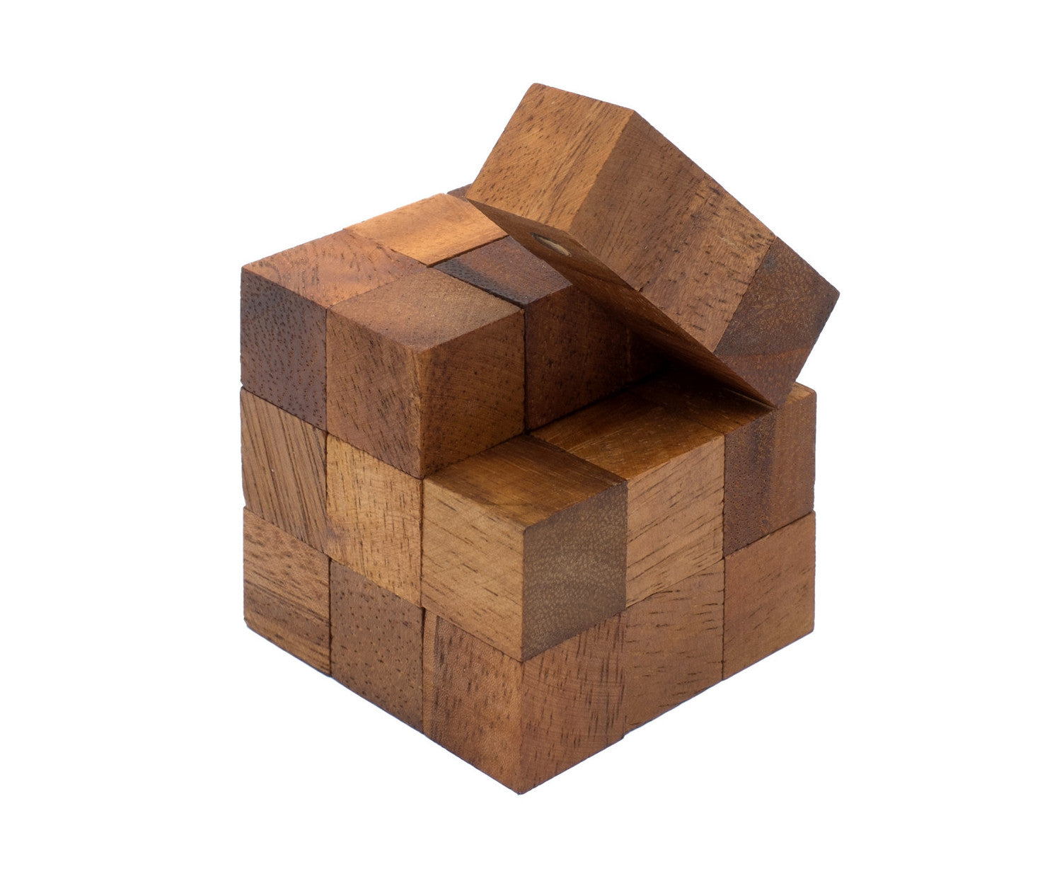 Snake Cube Puzzle or Serpent Cube Wooden Puzzle Toy