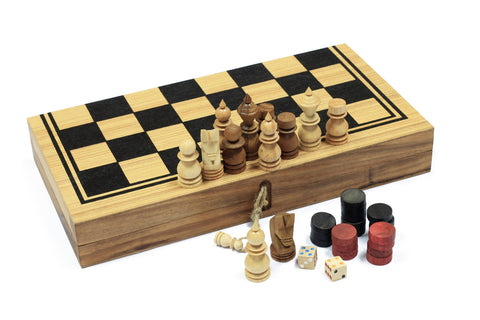 Backgammon, Checkers and Chess