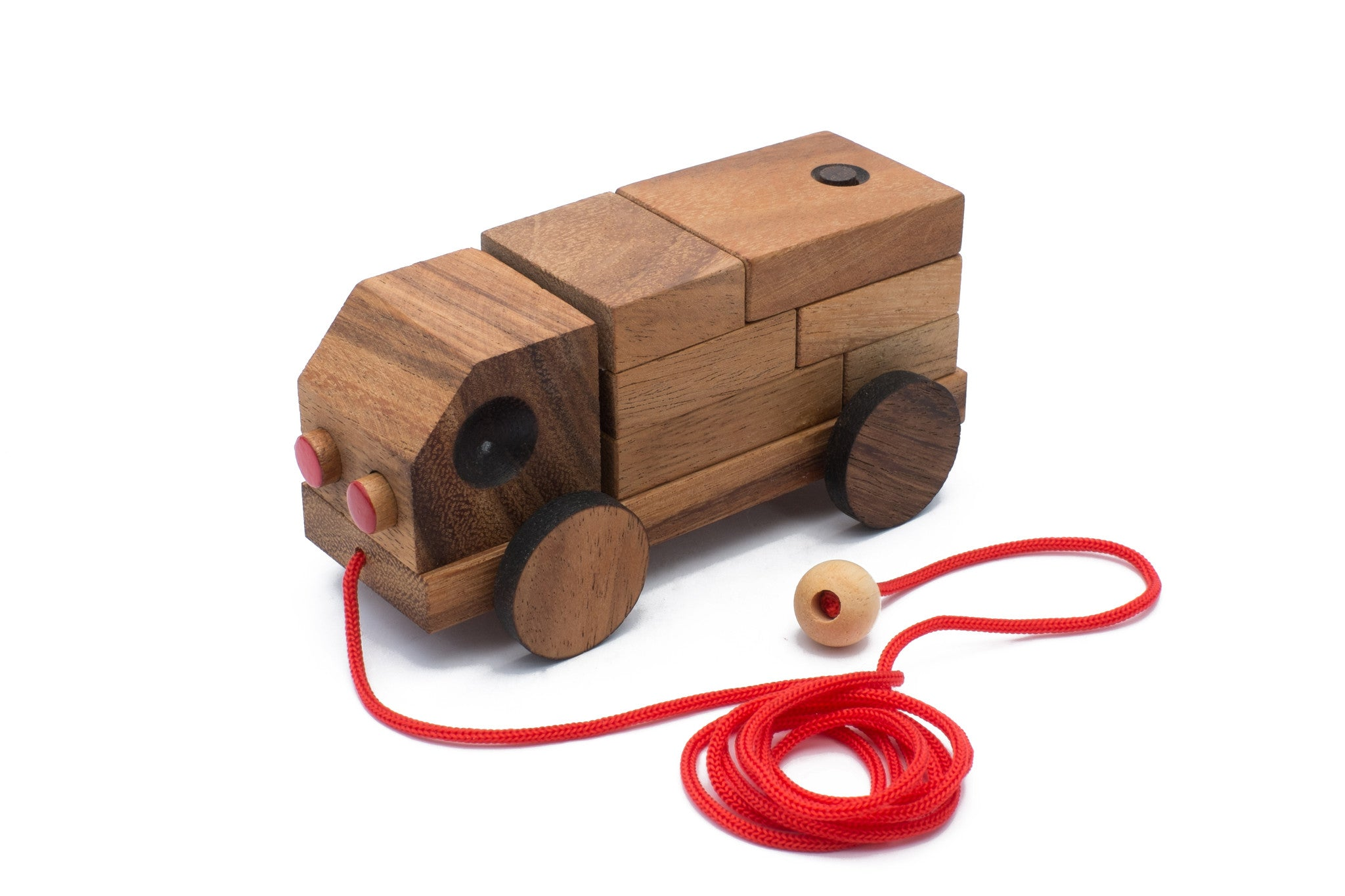 High Quality Handmade Wooden Toy truck with Free Shipping