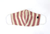 Thick Stripe Fabric Face Mask - Fire Brick Red