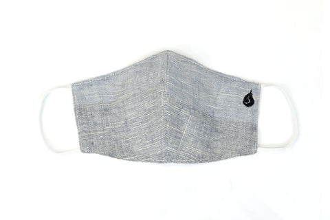 Plain Color Fabric Face Mask - Light Gray