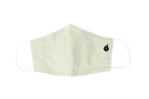 Plain Color Fabric Face Mask - Dark Green