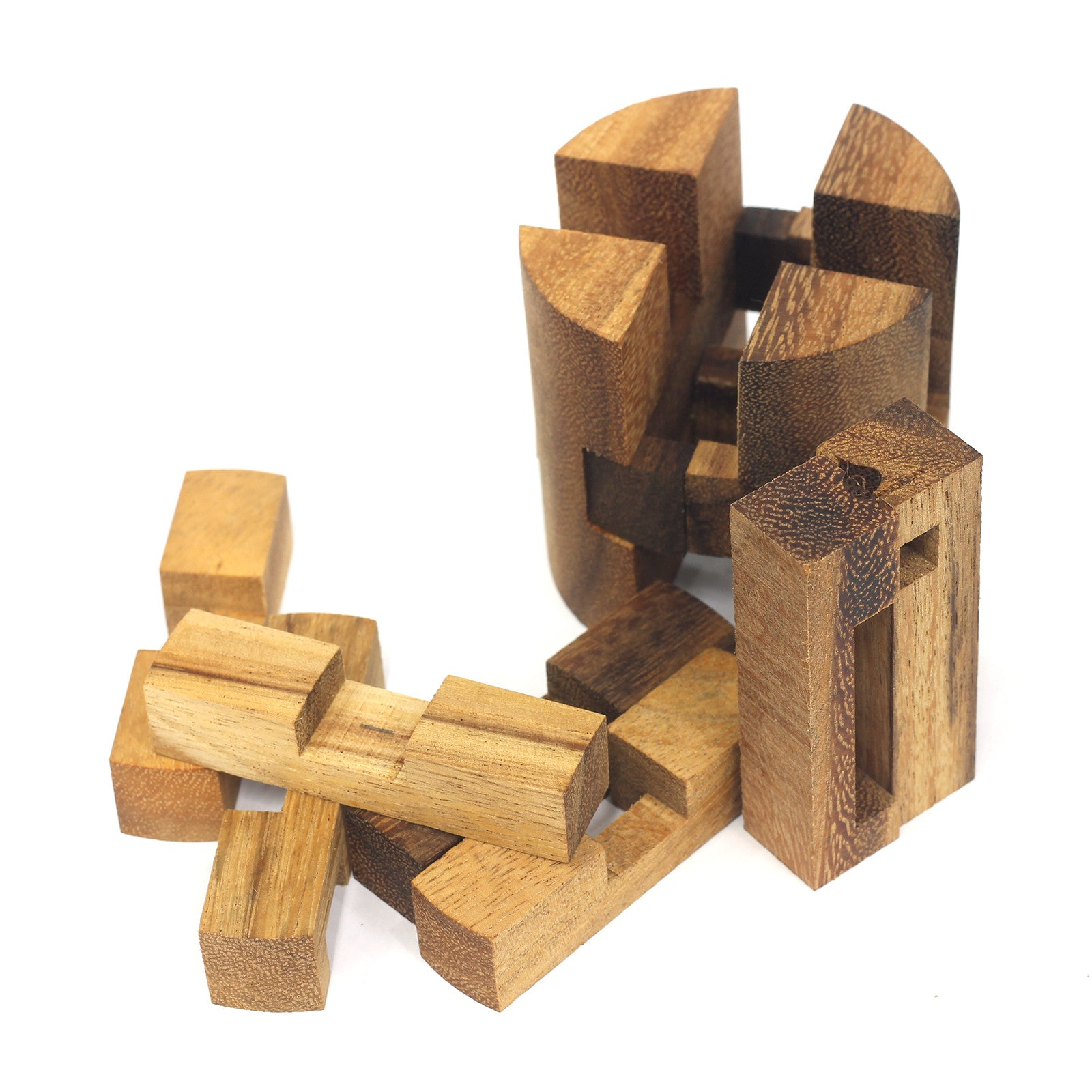 Wooden Powder Keg Puzzle