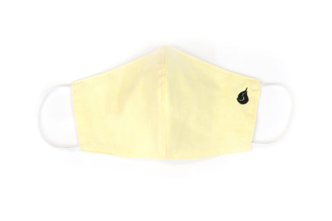 Plain Color Fabric Face Mask - Lemon