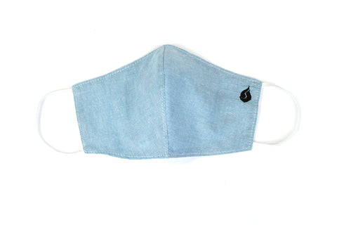 Plain Color Fabric Face Mask - Ocean Blue