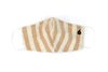 Thick Stripe Fabric Face Mask - Wheat