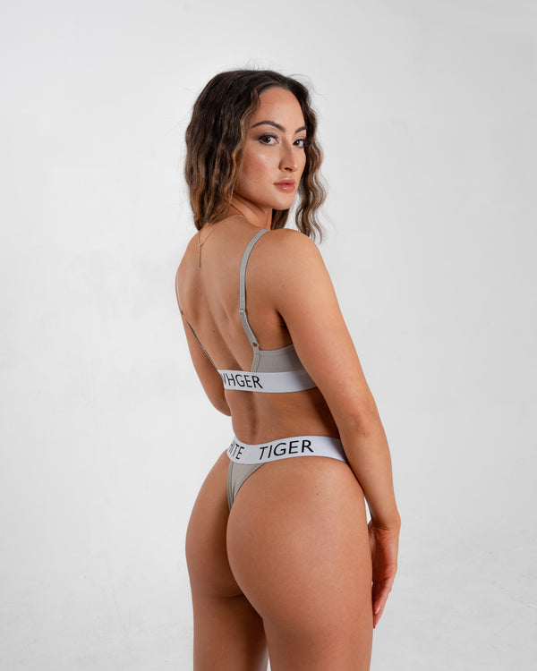 Grey Signature Thong