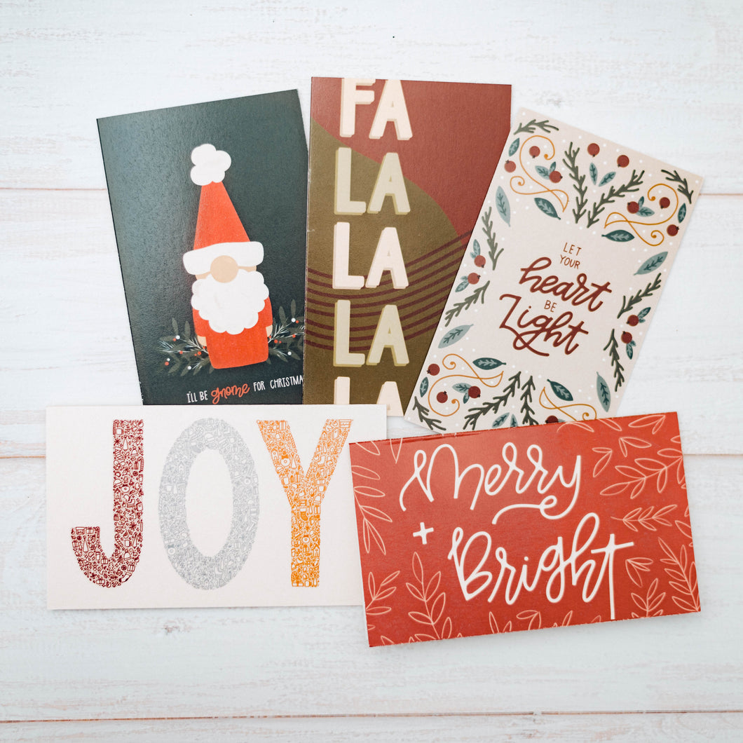 Festive Christmas Greeting Card Bundle | CHRISTMAS CLEARANCE