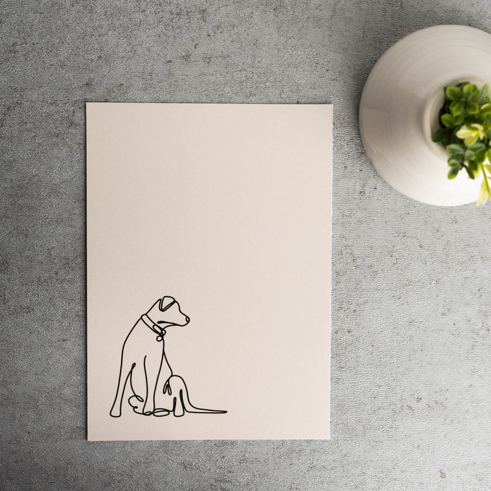 Puppers Continuous Line Print