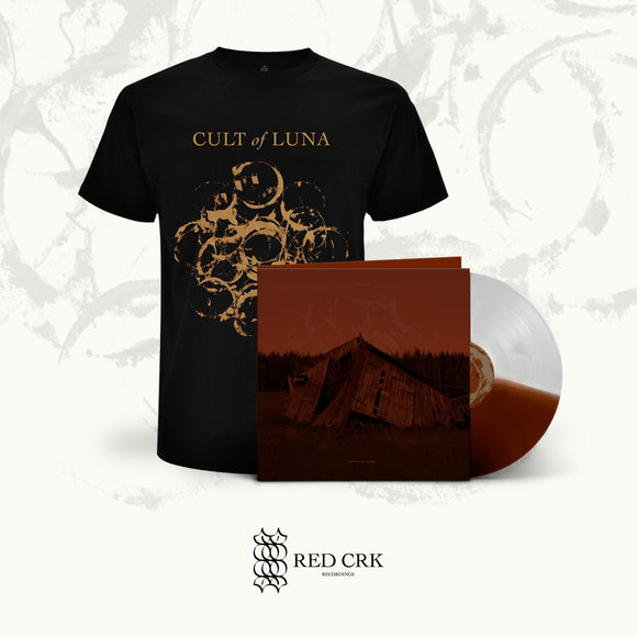 CULT OF LUNA - The Raging River LP Gtfold (Half/Half - Transparent and Brown) + Black T-Shirt