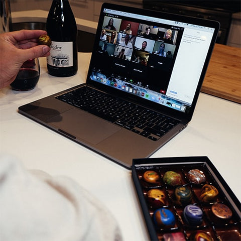 Wine and chocolate tasting experience for corporate teams