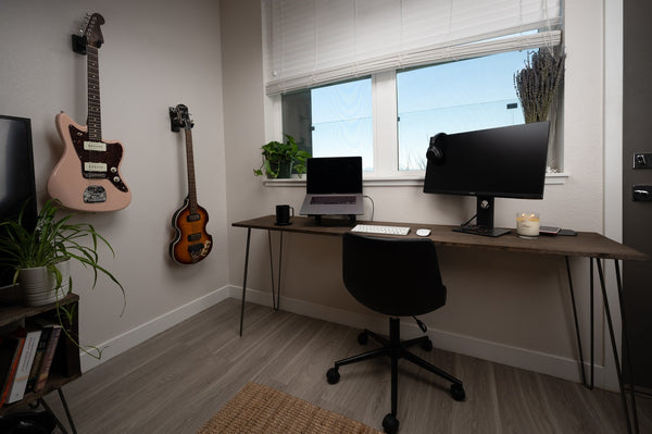 Organized work from home office
