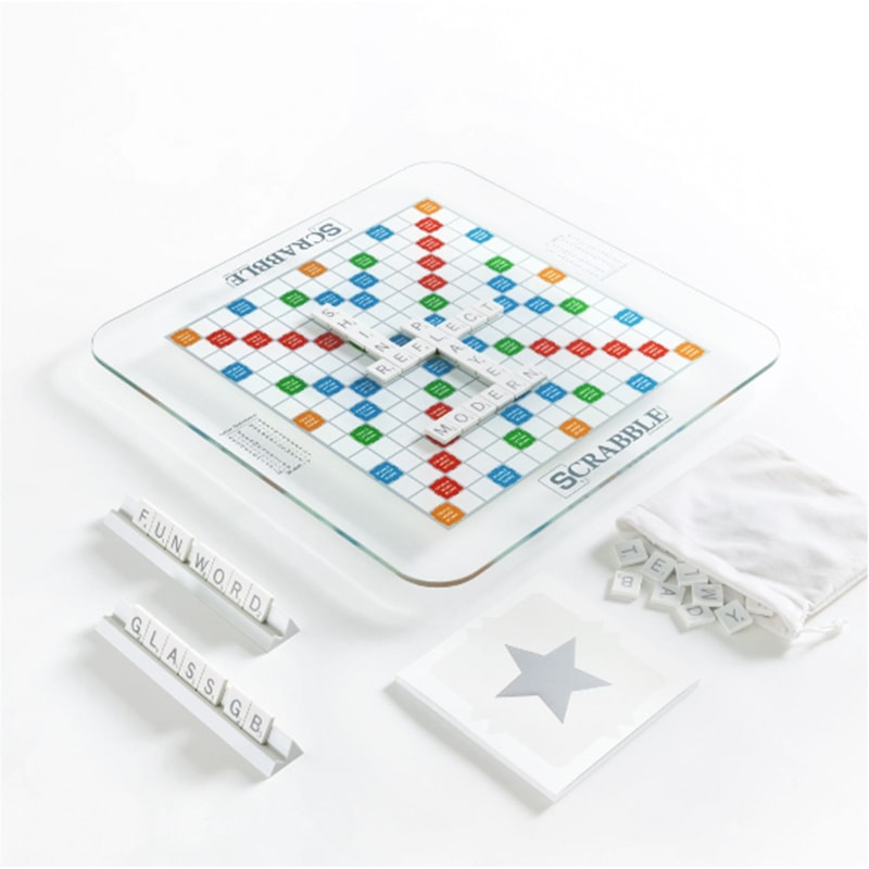 Glass Scrabble Set