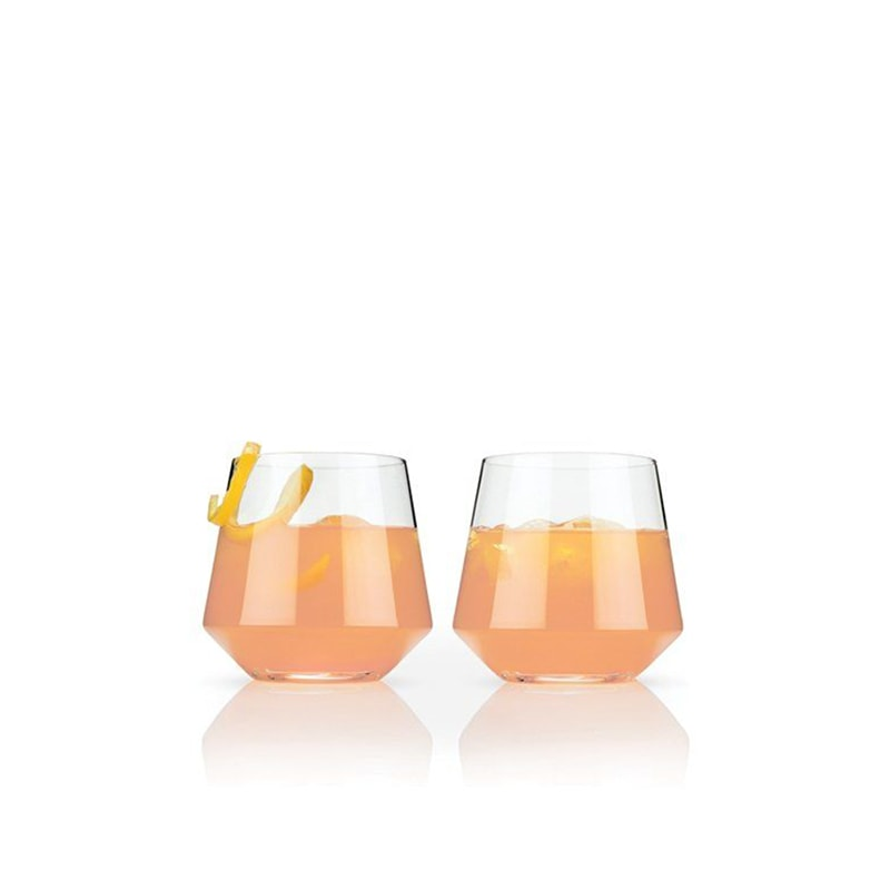 Angeled Crystal Cocktail Tumblers