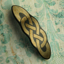 Load image into Gallery viewer, Gold Celtic Knot Barrette