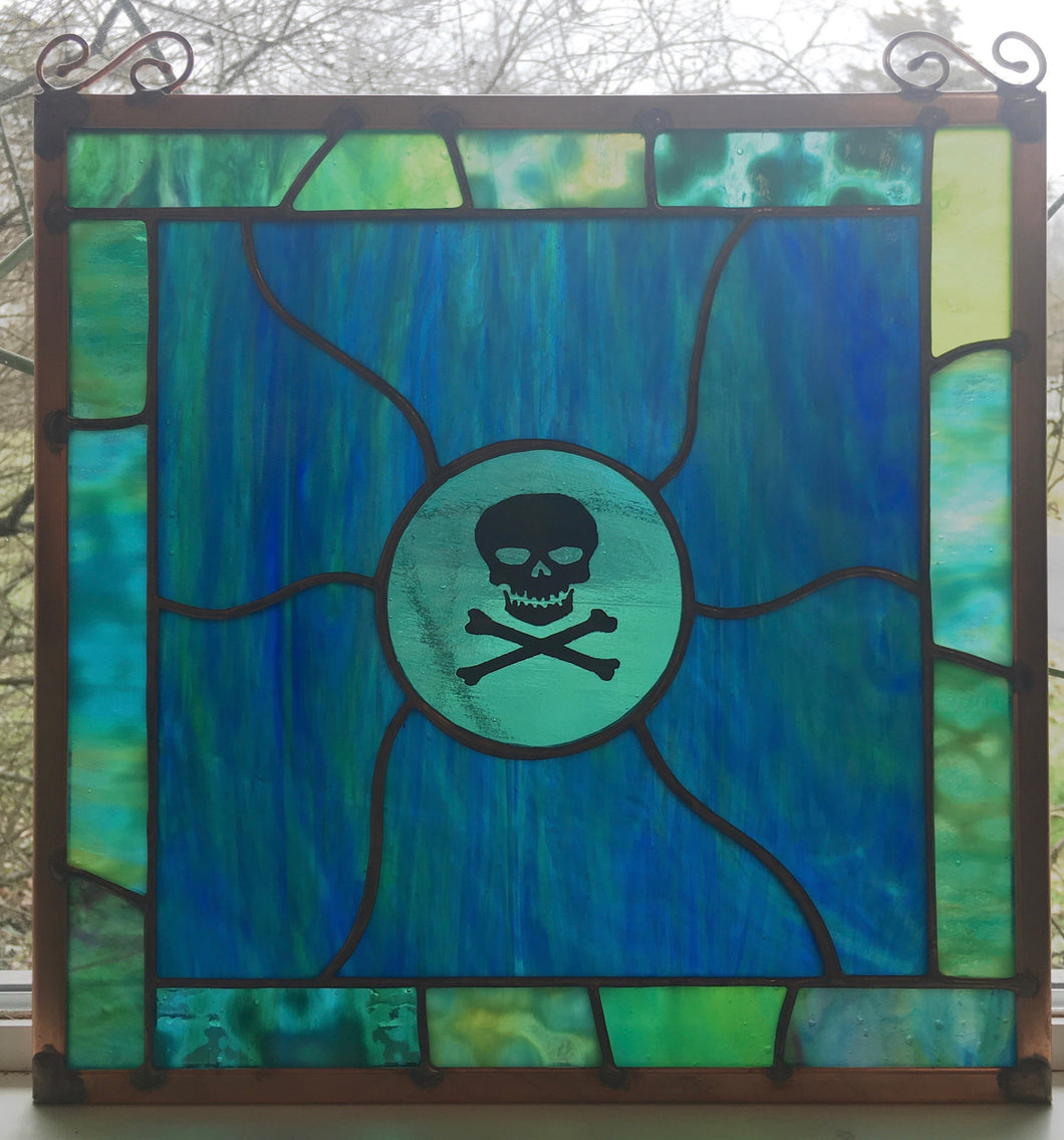 Pirate Stained Glass Panel