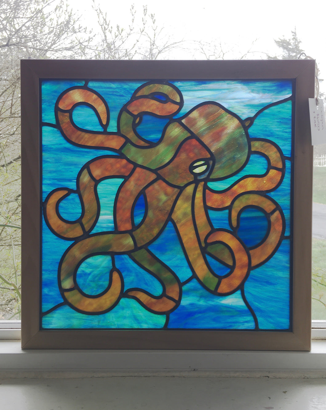 Octopus Stained Glass Panel